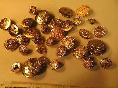 Lot of Vintage Military Buttons