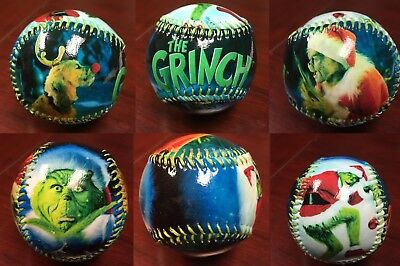 The Grinch who Stole Christmas Glossed  Collectible Souvenir Baseball
