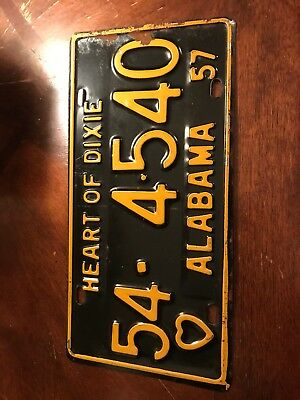 1957 Pickens County Alabama License Plate