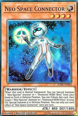YuGiOh SOFU-ENSE3 Neo Space Connector Super Rare Limited