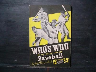 NobleSpirit NO RESERVE (3970) 1947 Who's Who In Major Leagues Baseball