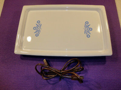 CORNING WARE Electromatic Server Platter Blue Cornflower Warming Tray