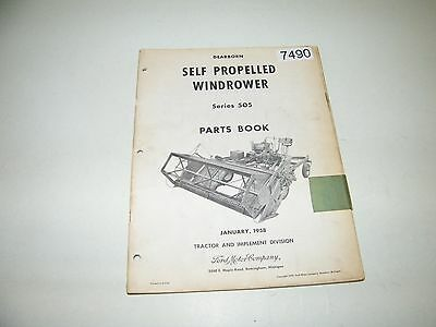 Dearborn Ford Self Propelled Windrower Series 505 Parts Catalog 1958 PA-6611-A