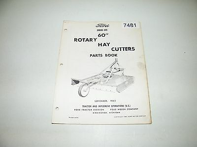 """Ford Series 505 60"""" Rotary Hay Cutters Parts Catalog Sept 1963 PA-8753-A"""