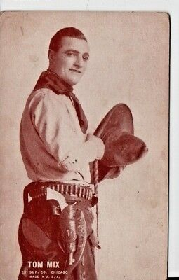 Tom Mix Silent Movie Cowboy Ex. Sup. Co. Arcade Card 1928