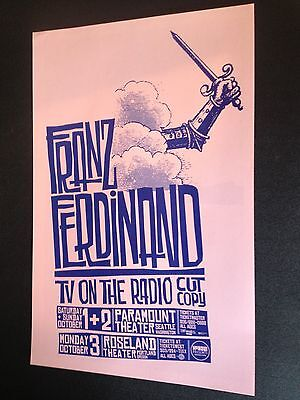 Franz Ferdinand TV On The Radio Yummy Fur Rare Original Concert Tour Gig Poster