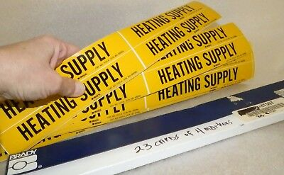 """92 count  vinyl stickers legend HEATING SUPPLY  Brady 7127-4 markers 7"""" x 1-1/8"""""""