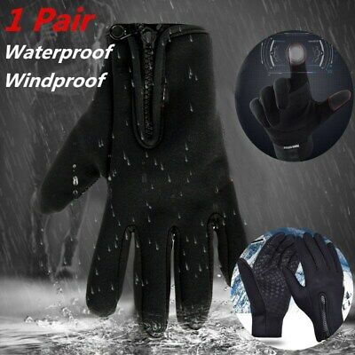 Men Women Outdoor Sport Driving Gloves Winter Windproof Touch Screen Waterproof