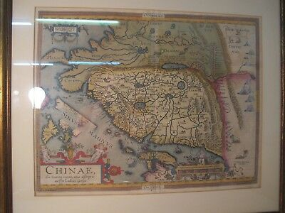 Abraham Ortelius Extremely Rare, Chinae Map. Dated 1584