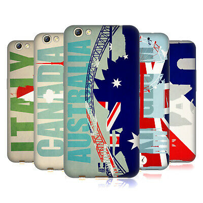 Head Case Designs Flags And Landmarks Soft Gel Case For Oppo Phones
