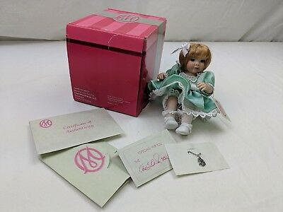 "Marie Osmond 5"" Mommy's Little Girl Tiny Tot with COA and Necklace Green Dress"