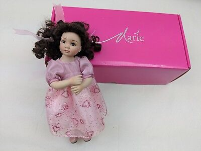 "Madisyn Sweetheart 9"" Tall Tiny Tot Marie Osmond Pink Heart Dress and Shoes"