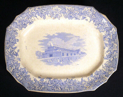 Rare Great Exhibition 1851 CRYSTAL PALACE London Staffordshire PLATTER Pottery