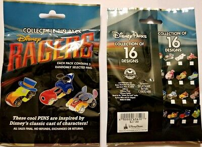 Disney Collectible Pin Pack RACERS Mystery Bag of 5 Pins Sealed NEW
