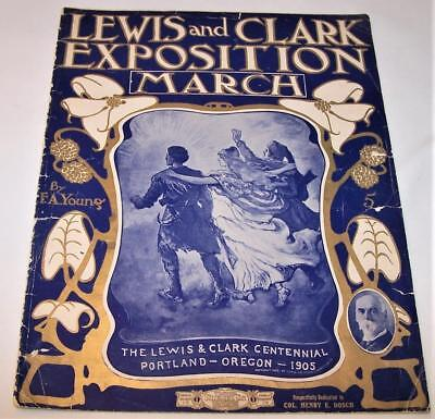 Lewis and Clark Exposition March 1905 sheet music SCARCE