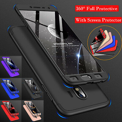 For Samsung Galaxy J4 J8 2018 Full Protective Hard Shell Case+Screen Protector