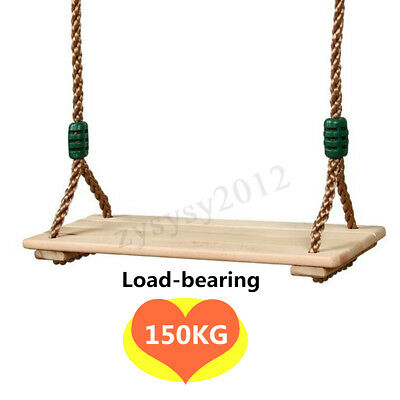 Wooden Swings Seat Child Adult Indoor Outdoor Yard Swing Play 150KG Load-Bearing