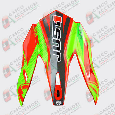 Frontino Origine Casco Cross Just1 J32 Pro Peak Rave Red-Lime