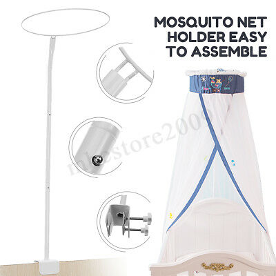 Baby Mosquito Net Holder Clip-on Canopy Bracket Cot Bed Netting Crib