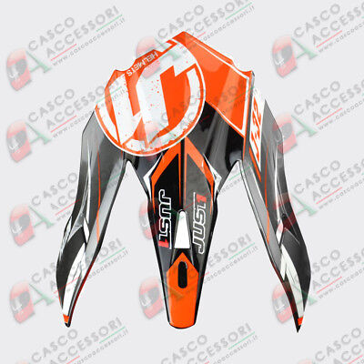 Frontino Origine Casco Cross Just1 J32 Peak Moto X Orange