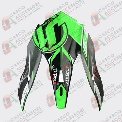 Frontino Origine Casco Cross Just1 J32 Peak Moto X Green
