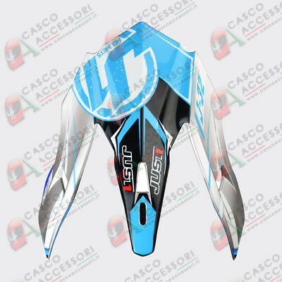 Frontino Origine Casco Cross Just1 J32 Peak Moto X Blue