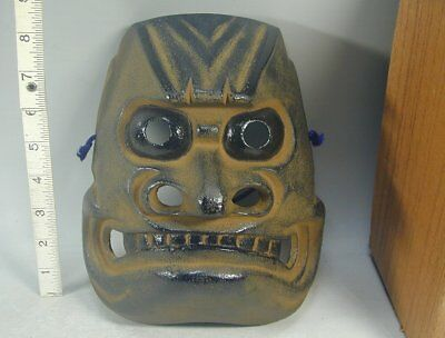 ONIKENBAI Mask #7 Japanese NANBU Iron ONI DEMON SWORD DANCE Face Buddhism Buddha