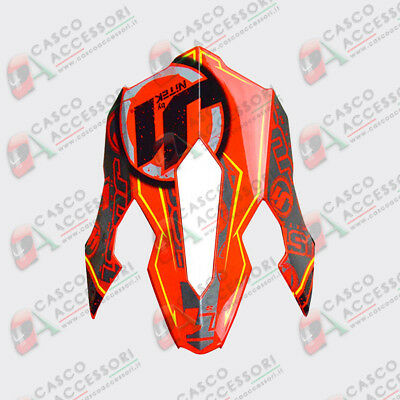 Frontino Origine Casco Cross  Just1 J12 Peak Stamp Red Fluo