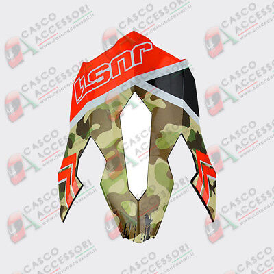 Frontino Origine Casco Cross Just1 J12 Peak Kombat Red