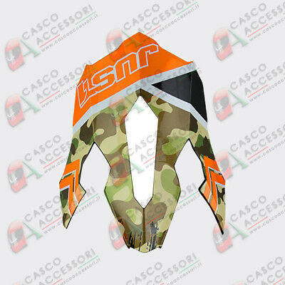 Frontino Origine Casco Cross Just1 J12 Peak Kombat Orange
