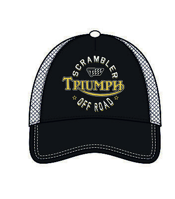 GENUINE Triumph Scrambler 1200 Mesh Black Baseball Cap NEW