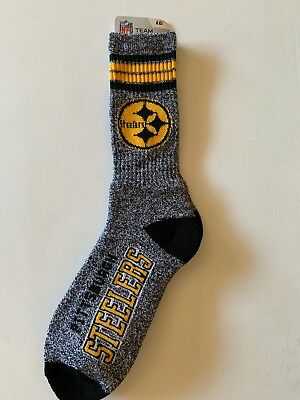 Pittsburgh Steelers Adult 4 Stripe Got Marbled Team Socks-1pair-Lg New With Tags