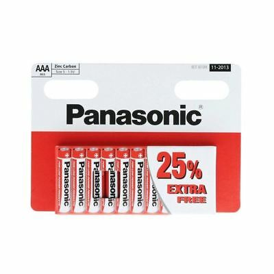 10 x AAA Genuine PANASONIC Zinc Carbon Batteries - 1.5V 02/2021 TRIPLE A