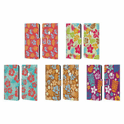 Head Case Designs Hawaiian Patterns Leather Book Wallet Case For Google Phones