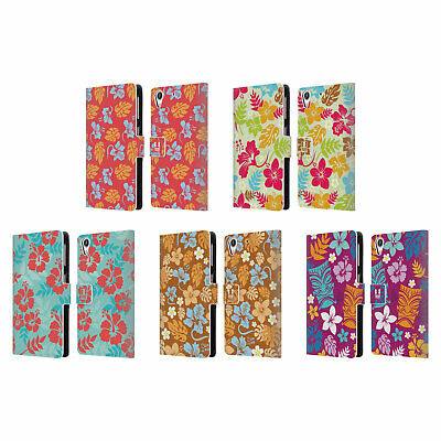 Head Case Designs Hawaiian Patterns Leather Book Wallet Case For Htc Phones 2