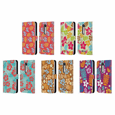 Head Case Designs Hawaiian Patterns Leather Book Case For Motorola Phones 2