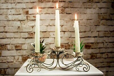 Rustic Antique French Style Taper Candle Holder Table Centrepiece Home Decor