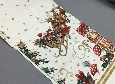 """Williams Sonoma Twas The Night Before Christmas Tablecloth 70x90"""""""