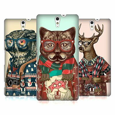 Head Case Designs Hipster Animals In Sweaters Hard Back Case For Sony Phones 2