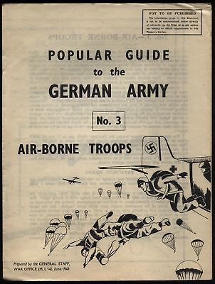 1941 War Office No 3 GERMAN AIR-BORNE TROOPS issued to Home Guard Units