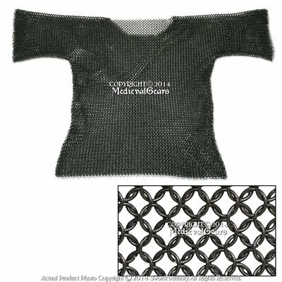 Medieval Chainmail Shirt  Butted Half Sleeves Large Medium Renaissance Costume