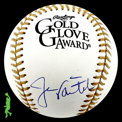 Jason Varitek Autographed Signed Gold Glove Award Baseball Ball Psa/dna Coa