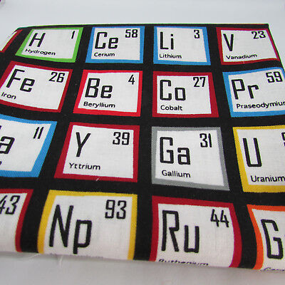 SCIENCE FAIR periodic table 2 FQT bundle 100% cotton fabric by Robert Kaufman