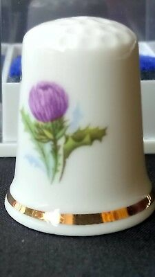 Pitlochry Perthshire Scotland Festival Theatre Bone China Souvenir Thimble Cased