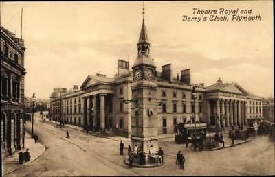 Ak Plymouth South West England, Theatre Royal and Derry's Clock - 1895169