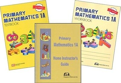 Primary Mathematics 1A SET -- Textbook, Workbook, & Home Instructor U.S. Edition