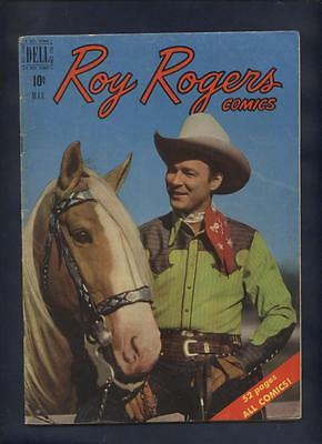 Roy Rogers 27  western  Movie Star photo cover comic Dell Golden age