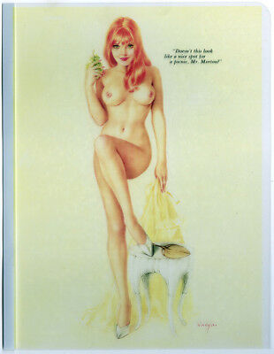 July 1968 Playboy Alberto Vargas Printers Acetate Transparency Pin-up Sheet NR!
