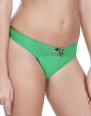 Freya Deco Vibe Brazilian Thong Brief Knickers Size M 12 14 Kelly Green  1707 New 7c421062f