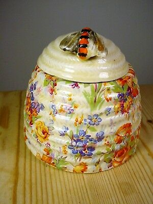 Wilkinson Clarice Cliff Honey Pot with Bee Knop